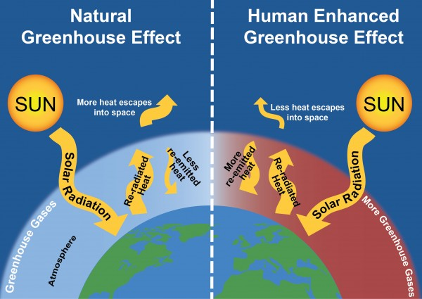 Climate change science and impacts factsheet center for for Green housse effect